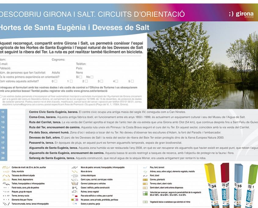 Mapa cursa orientacio Salt Girona