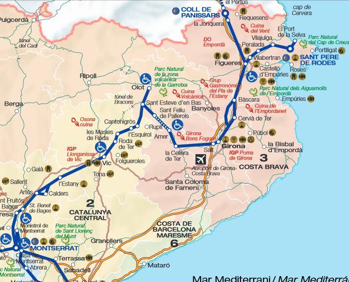Mapa Cami Sant Jaume Girona Salt